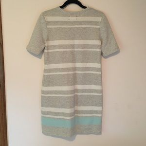 Baby blue and gray Striped dress